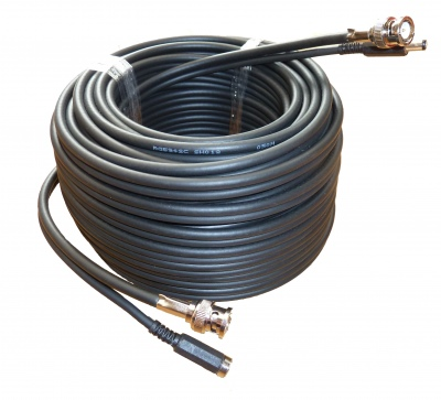 200M CCTV Professional RG59 +2 (Shotgun) Cable BNC + Power Cable Connected