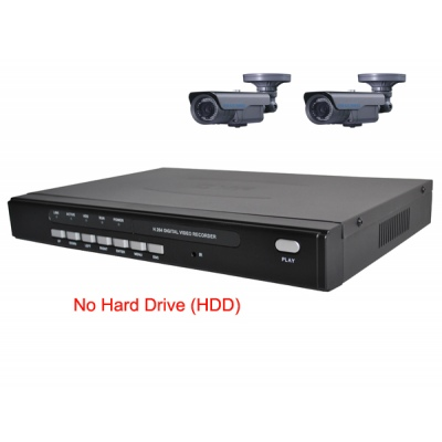 4 Channel H.264 Network DVR with 2 x 45 meter IR OSD CCD Cameras  Mobile Access