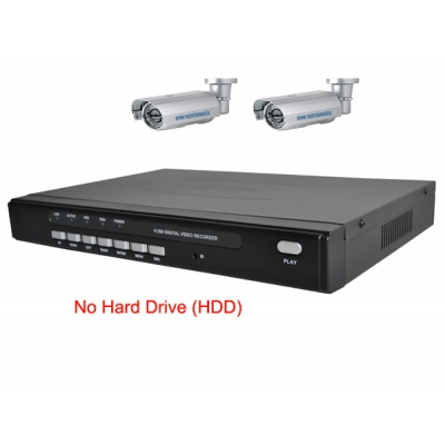 4 Channel H.264 Network DVR with 2 x 50 meter IR  CCD Cameras  Mobile Access