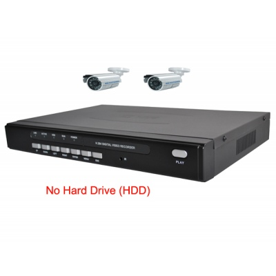 4 Channel H.264 Network DVR with 2 x CCD Cameras  Mobile Access