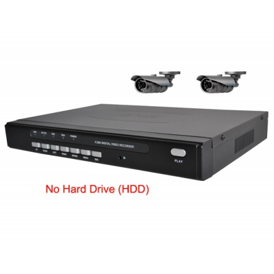 4 Channel H.264 Network DVR with 2 x  wide angle CCD Cameras  Mobile Access