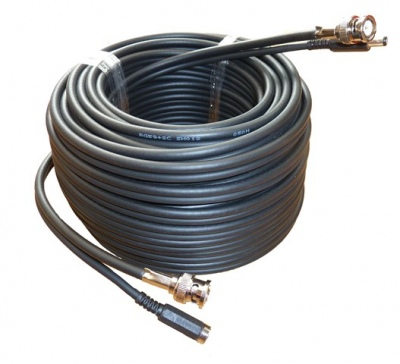 50M CCTV Professional RG59 +2 (Shotgun) Cable BNC + Power Cable Connected
