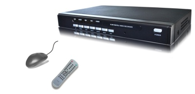 8 Channel H.264 Stand Alone CCTV DVR Fitted 500GB HDD With Smart Phone Access and Remote Control black