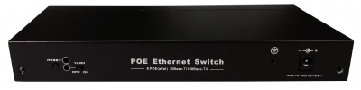 8-Port 10/100Mbps IEEE 802.3af/802.3at fiber optical PoE Switch