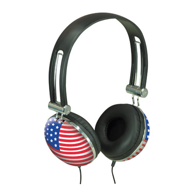 Flag Design Stereo Headphone
