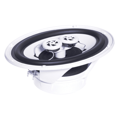 e-audio Elliptical Moisture Resistant Ceiling Speaker With Twin Offset Tweeters