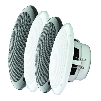 e-audio Round Ceiling Speaker With Dual Moisture Resistant Cone