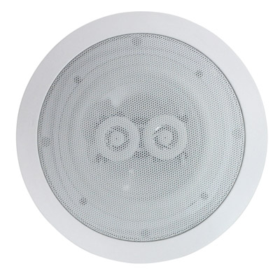 e-audio  Round Ceiling Speakers With Duel Offset Tweeters
