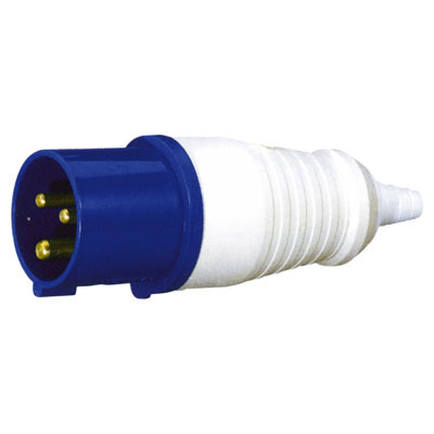 230V Blue 32 A 3 Contact High Current In-line Plug