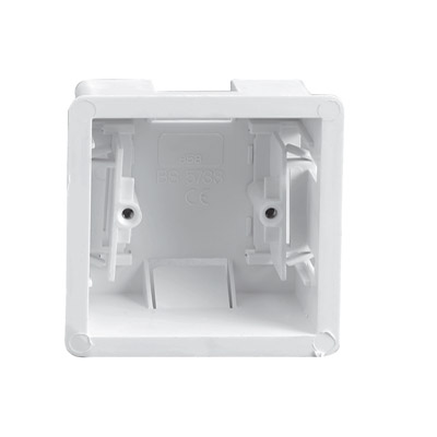 Single Gang Clip In Dry Lining Socket Box 35mm