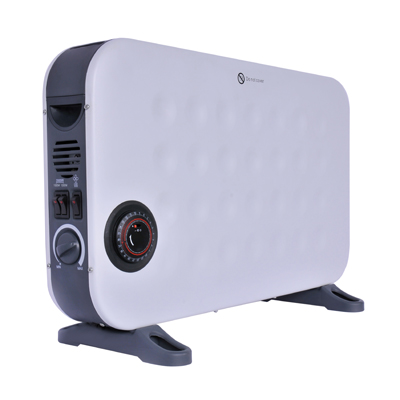 2kW White Convector Heater with Turbo Fan and Timer