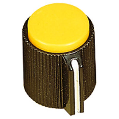 6.35mm Plastic Pointer Knob with Coloured Cap