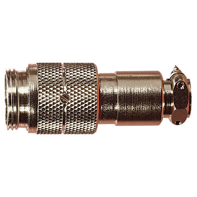 Nickel High Quality Multi Contact Line Plug with Cable Grip and Solder Terminals