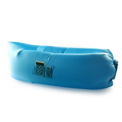 Inflatable Hangout Lounge Dream Chair Air Sofa Bag Outdoor Sleeping Lazy Bed--Blue