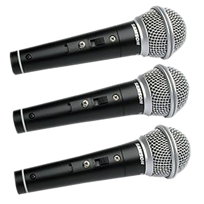Samson R21S Switched Dynamic Microphone 3 Pack