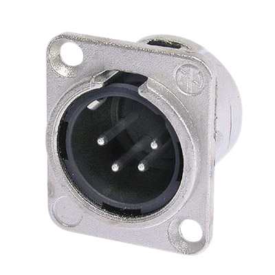 Neutrik NC4MD-L-1 Male 4 Pin chassis Connector With Silver Contacts