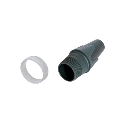 Neutrik BXX-CR Black Bushing with Clear Coding Ring for Customized Labelling of Neutrik XLR Plugs