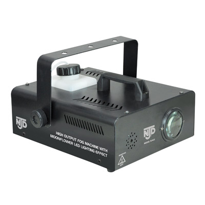 NJD 400W Fog Machine with Moonflower LED Lighting Effect and Wireless Remote Control