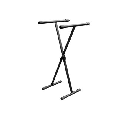 New Jersey Sound Corporation Folding Heavy Duty X Frame Type Keyboard Stand With Height Adjustment in Black