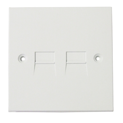5/6A Screw Flush Mount Twin UK Extension Socket. Blister