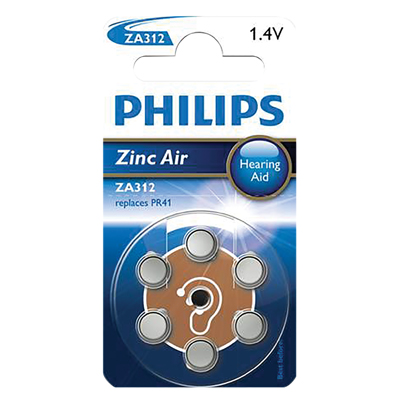 Philips Hearing Aid Battery 6 Pack