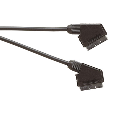 Standard Scart Plug to Scart Plug  TV and Video Lead All Pins Connected