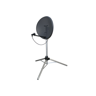 Small Height Adjustable (895-1125 mm) Silver Satellite Stand