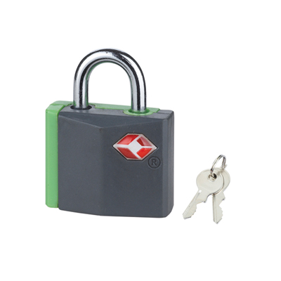 TSA Green/Black Padlocks (Twin Pack)