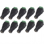 10 X DC POWER SOCKET 12V VOLT CCTV ADAPTOR CONNECTOR FEMALE 2.1MM