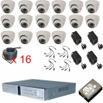 16 Channel CCTV DVR Kit with 16 x Infrared 800TVL Cameras Mobile Access