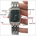 8GB Spy Watch with Bracelet Rectangle Dial