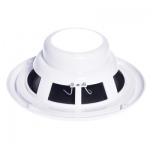 e-audio Round Ceiling Speaker With Moisture Resistant Cone and Polymer Tweeter