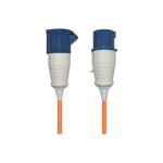16 A High Current Extension Lead with Orange 2.5mm Cable