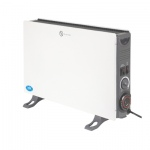 2 kW White Convector Heater with Turbo Fan and 24 Hour Timer