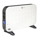 2 kW White Convector Heater With Turbo Fan, Remote Control And 24 Hour Countdown