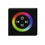 NJD Glass Faced Touch Panel controller for RGB LED lighting with colour Wheel