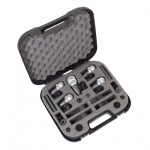 NJS 7 Piece Drum Microphone Kit with Carry Case