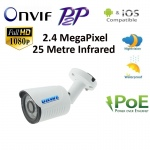 ONVIF 1080P HD IP 2.4MP Network CCTV Security Camera P2P POE 25m IR Night Vision