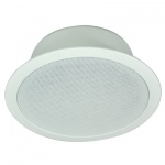 100 V Line Round Flush Fit Ceiling Speaker With Built-in Fire Dome