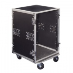 Rack Case On Wheels With Removable Lids front and rear