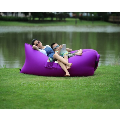 Inflatable Hangout Lounge Dream Chair Air Sofa Bag Outdoor Sleeping Lazy Bed Purple