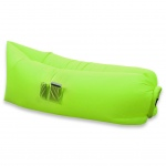 Inflatable Hangout Lounge Dream Chair Air Sofa Bag Outdoor Sleeping Lazy Bed--Green
